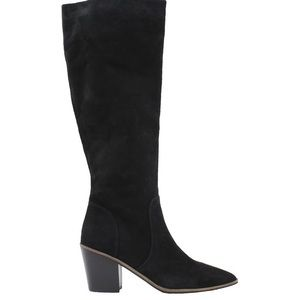Slouchy CalfHigh Suede leather Block Chunky Kitten